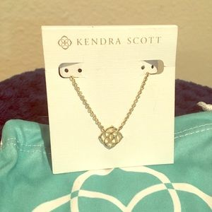 Kendra Scott Logo Necklace Silver